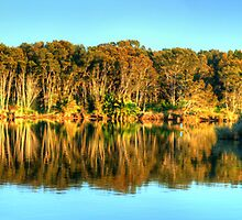 Narrabeen Reflections - Narrabeen Lakes, Sydney, Australia - The HDR Experience by Philip Johnson