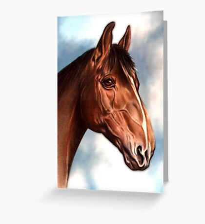Horse Waiting Greeting Card