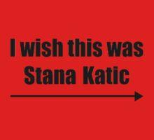'I wish this was Stana Katic →' BLACK Baby Tee