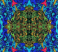 """Wereldbos"" - Psychedelic World (posters and prints) by Steven De Kock"