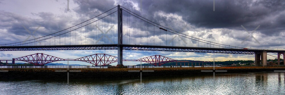 The Bridges view from Port Edgar by Tom Gomez