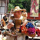 Flower seller by Jeff Stroud