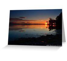 """ Sunset over Onondaga Lake - Liverpool, NY "" Greeting Card"