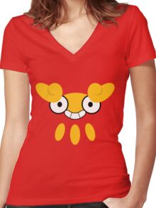 Pokemon - Darumaka / Darumakka Women's Fitted V-Neck T-Shirt