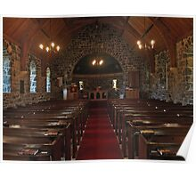 Kilmore Church Interior, Dervaig Poster