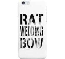 Rat. Wedding. Bow. iPhone Case/Skin