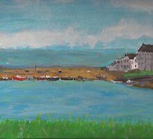Portmahomack Harbour by Michael Biggs