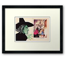 Those slippers will never come off as long as your alive! Framed Print
