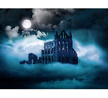 Moonlight on Whitby Abbey Photographic Print