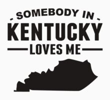 Somebody In Kentucky Loves Me Kids Tee