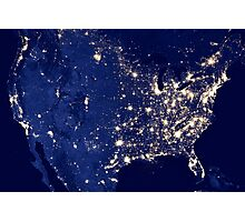 City Lights of the United States Photographic Print