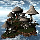 Floating Fungi Island-Mushroom Manor by Dreamscenery