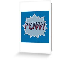 BLUE POW Greeting Card