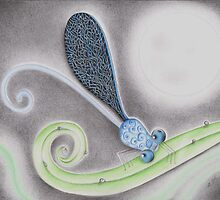 Damselfly in the Night by Megan Stone