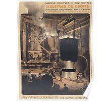 Industries de guerre Exposition organisée par loeuvre Lassistance aux depts déclopès Poster