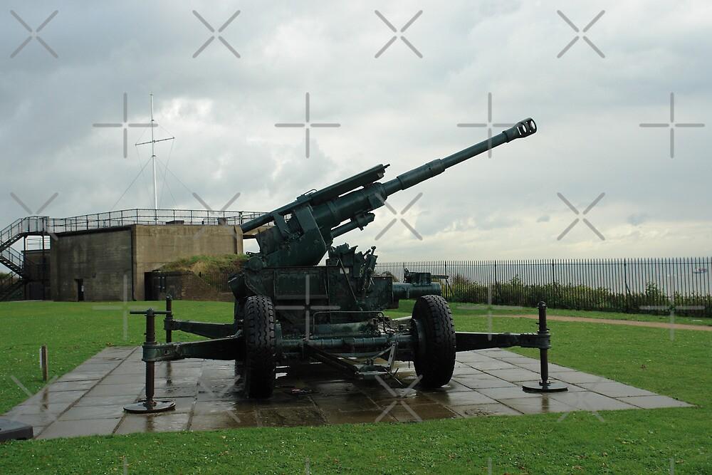 An WW2 anti-aircraft gun at Dover Castle in England by ashishagarwal74