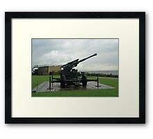 An WW2 anti-aircraft gun at Dover Castle in England Framed Print