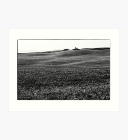 Bump in the Valley, black and white Art Print