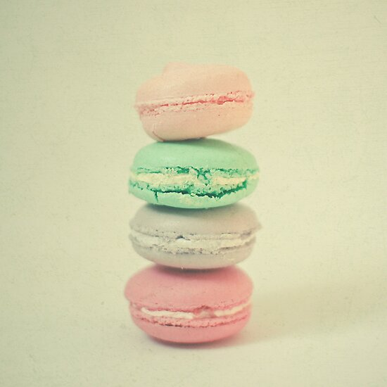 Four Macarons by Cassia