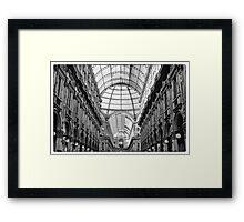 Galleria Vittorio Emanuele II in black and white Framed Print