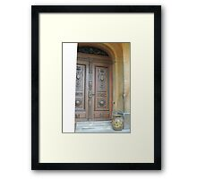 Waddesdon Door Framed Print