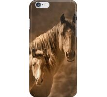 Mare with filly iPhone Case/Skin