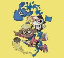 Splatoon - Yellow V.S. Blue Kids Tee