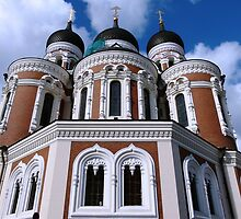 Alexander Nevsky Cathedral, Tallinn, Estonia by Trish Meyer