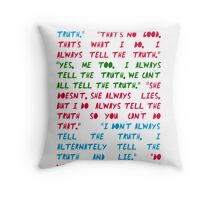 """Halt, Traveller!""  Throw Pillow"