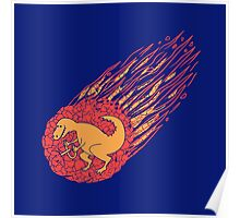 ASTEROID AND DINOSAUR Poster
