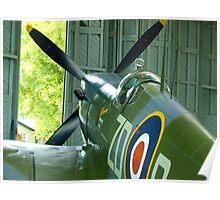 Spitfire Mk IX MH434 - Hanger 2 Duxford Poster