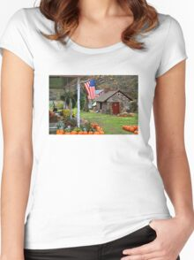 Fall Harvest - Rural America Women's Fitted Scoop T-Shirt