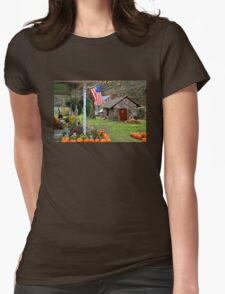 Fall Harvest - Rural America Womens Fitted T-Shirt