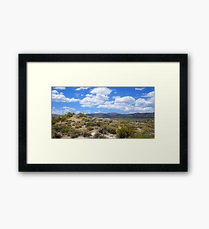 A Cloudy Summer Framed Print
