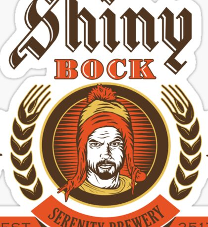 Shiny Bock Beer Sticker