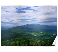 View from the top of Elmore Mountain - Worcester Range, Vermont Poster