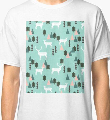 Reindeer Forest - Mint by Andrea Lauren  Classic T-Shirt