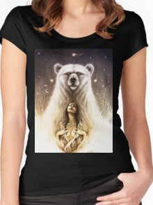 Bear Spirit Women's Fitted Scoop T-Shirt