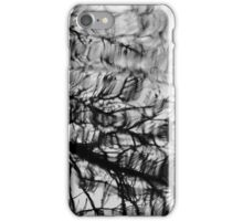 Reflecting On Winter In Black And White iPhone Case/Skin