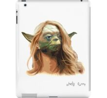White Girl Yoda iPad Case/Skin
