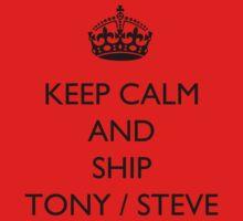 Keep Calm And... Ship Tony / Steve by BegitaLarcos