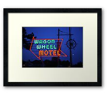 Route 66 - Wagon Wheel Motel Framed Print