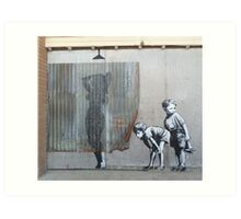 Banksy Dismaland Graffiti Shower Lady Art Print