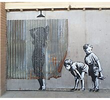 Banksy Dismaland Graffiti Shower Lady Photographic Print