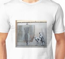 Banksy Dismaland Graffiti Shower Lady Unisex T-Shirt