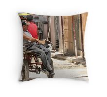 Catching a ride. Throw Pillow
