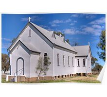 The Country Church, Garah, NSW Poster
