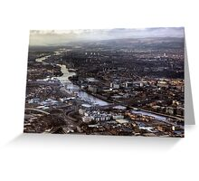 Glasgow and the River Clyde Greeting Card