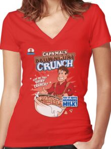 Browncoat Crunch Women's Fitted V-Neck T-Shirt