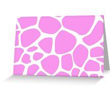 Animal Print (Giraffe Pattern) - Pink White  Greeting Card